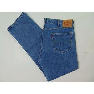 Levi's 505 40 X 34 Blue Jeans Straight Leg Denim